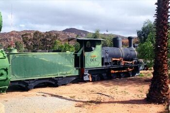 O\'okiep Copper Company train, Nababeep Museum, Northern Cape