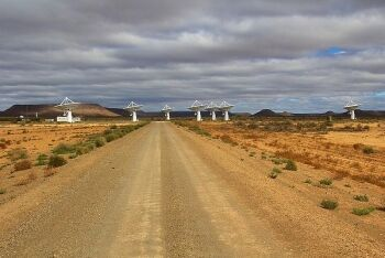 KAT-7. Square Kilometre Array site, north of Carnarvon, Northern Cape