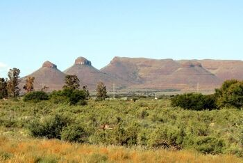 The Three Sisters hills in the Karoo, Northern Cape